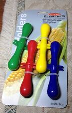 Corn Cob Holders CULINARY ELEMENTS Pack of 4 assorted Colors UPC 733046000641