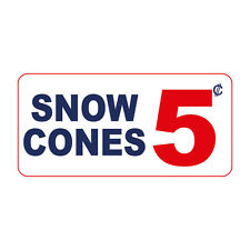 Snow Cones 5C Custom Retro Vintage Style Metal Sign - 8 In X 12 In With Holes