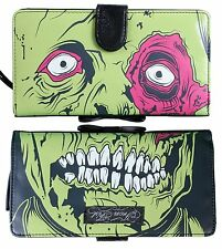 Iron Fist Green Dead Broke Zombie Chomper Vegan Wallet