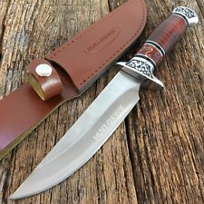 "12""Rosewood Hunting Camping Fishing Survival Knife New Sheath Military -M"