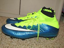 NIKE MERCURIAL FLYKNIT SUPERFLY FG SOCCER CLEATS BOOTS ATHLETIC 12 US , 11 UK