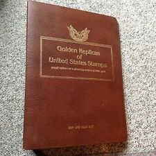 """GOLD REPLICAS of UNITED STATES STAMPS   """" One empty Album""""   No covers or pages"""