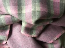 """New Reversible Multi Colour Check Wool Fabric 61"""" 156cm   234cm METRE PIECE ONLY"""