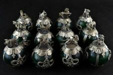 Chinese Handwork Green Jade Tradition Propitious Chinese 12 Zodiac Rare Statues