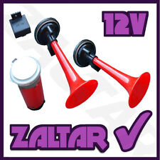 12v TWIN AIR HORN CAR BOAT VAN TWO TONE KIT VERY LOUD