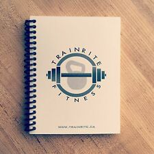 TrainRite Compact Fitness Journal - White (Workout Log Book)