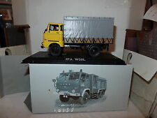 Atlas Editions FQ01 1:43 Scale IFA W50L East German Canvas Truck Yellow Grey