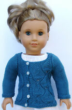Knitting Pattern - Eva Cardigan Sweater For American Girl 18 Inch Dolls Gotz
