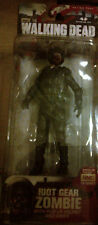WALKING DEAD SERIES 4 RIOT GEAR ZOMBIE W/KNIFE IN THROAT ACTION FIGURE 2013