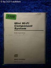 Sony Bedienungsanleitung MHC ZX30AV Mini Component System (#3308)