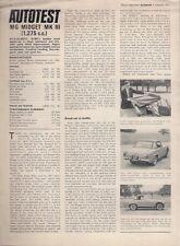 MG Midget Mk III 1275cc 1971 UK Market Road Test Brochure Autocar