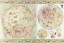 Rice paper Scrapbook Sheets  Shabby Roses
