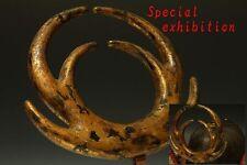 Japan Antique Edo yoroi BIG kuwa gold maetate Kabuto tsuba koshirae Armor