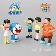 5X Doraemon Nobita Gian Suneo Shizuka Big G Action Figure Model Toy Doll Set