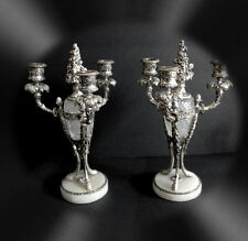 Pairpoint vintage silverplate and crystal - PAIR of candelabra - FREE SHIPPING