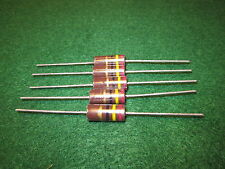 (1) 5 Pack Carbon Comp 24 OHM 2 Watt 5% Resistors NOS