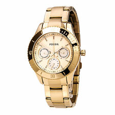 Fossil ES2859 Women's Rose Gold Stainless Steel Dual Time Watch