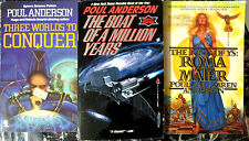 POUL ANDERSON All-New Paperback Library - 3 Book Lot SciFi Fantasy Novels UNREAD