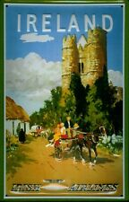 Irish Airlines Ireland Castle Blechschild Schild Blech Metal Tin Sign 20 x 30 cm