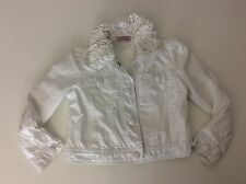 MONNALISA White Jacket Coat Age 4 Years / 104  Gc Ruffle