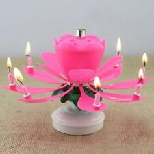 Amazing Romantic Musical Lotus Flower Happy Birthday Candle PERFECT GIFT FOR ALL