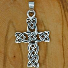 925 Solid Sterling Silver Celtic Cross pendant