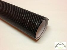 10cm x 20cm 4D Black Carbon Fibre Vinyl Wrap Cars Adhesive Decal (Bubble Free)