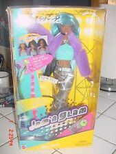 Barbie Doll JAM n GLAM Christie NRFB Mattel 2000s Rockers BLACK AA