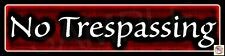 (4 PACK) NO TRESPASSING STREET SIGNS 3X12 CLASSY MADE IN USA ALL WEATHER METAL