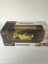 RARE Chevy Corvette C6-R Road Race Car 1:24 Friction Series Yellow FREE SHIPPING