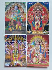 Hindu Postcard Set (20) HANUMAN - VISHNU - KRISHNA - GANESH