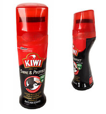 Kiwi Liquid Colour Instant Boot Shoe Shine Polish Wax - 75ml - BLACK - FREE P&P