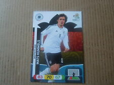 Carte adrenalyn panini - Euro 2012 - Allemagne - Mats Hummels