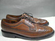 MENS VINTAGE 9.5 C FLORSHEIM IMPERIAL BROWN LEATHER BROGUE WINGTIP OXFORD
