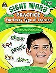 SIGHT WORD PRACTICE FOR EVERY TYPE OF LEARNER [9781420630596] NEW PAPERBACK BOOK