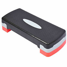 """New 27'' Fitness Aerobic Step Adjust 4"""" - 6""""Exercise Stepper w/Risers Home GymAW"""