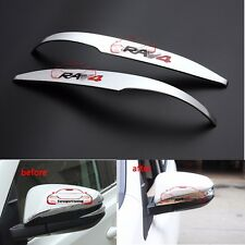 Chrome ABS Rear Mirror Molding Trim Cover Strip for Toyota RAV4 logo 2013-2016
