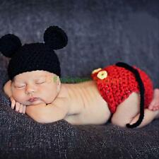 Mickey Mouse Baby Boys Costume Crochet Knit Beanie Outfit Photo Props Cap Hat