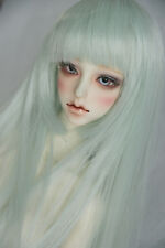"BJD Doll Hair Wig 7-8""1/4 SD DZ DOD LUTS Mint Green Long Straight"
