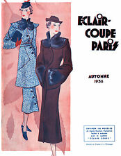 1936 Fall Eclair Coupe Paris Pattern Book Reprint - Patterns