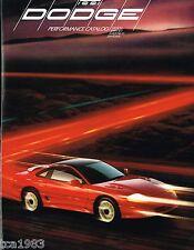 1991 Dodge STEALTH Turbo / SPIRIT R/T / SHADOW ES / DAYTONA Brochure / POSTER