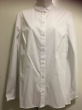 TAHARI white Long Sleeve Button Up Blouse Size L