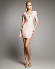 """NWT Authentic Herve Leger """"Lilith"""" S Rose Blush Zip Front Bandage Dress $1,590"""