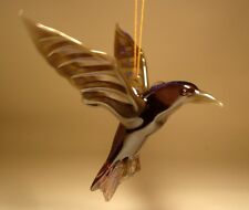 "Blown Glass ""Murano"" Art animal Figurine Bird Hanging CROW Ornament"