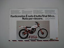 advertising Pubblicità 1979 MOTO FANTIC 330 TRIAL 50