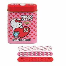 Hello Kitty Adhesive Bandages Set in Collectible Band Aid Tin!