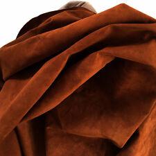 Deep Rust  Leather Deer Suede Deerskin Hide Rust NOS