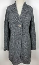 CAMBRIDGE DRY GOODS Gray Size Small S 1 Button Long Cardigan Sweater Soft Cozy