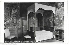 Hopetoun House, Nr Edinburgh, Scotland Real Photo Postcard - West Wainscoat Bed
