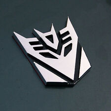 Transformers Chrome 3D Logo Emblem Badge Decal Car Sticker Decepticon 100% New